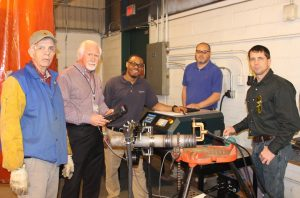 Orbital welder training for welding faculty members