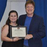 Sarah Estes presenting award to Cliff Tyndall